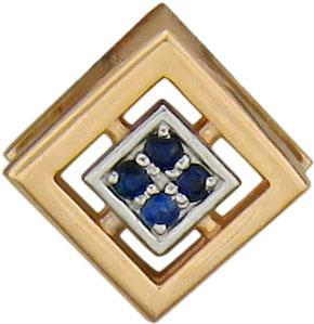 женские кулоны эстет серебряный кулон с куб цирконием в позолоте est01п152517аz Кулоны, подвески, медальоны Эстет 01P517584