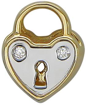 женские кулоны эстет серебряный кулон с куб цирконием в позолоте est01п152517аz Кулоны, подвески, медальоны Эстет 01P632045W