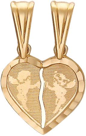 женские кулоны эстет серебряный кулон с куб цирконием в позолоте est01п152517аz Кулоны, подвески, медальоны Эстет 01P710251
