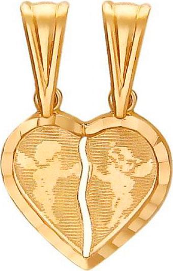 женские кулоны эстет серебряный кулон с куб цирконием в позолоте est01п152517аz Кулоны, подвески, медальоны Эстет 01P750251A