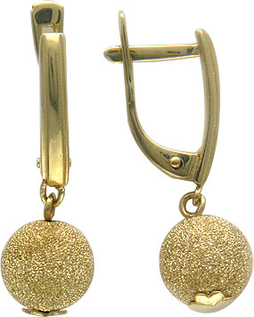 Серьги Эстет 01S035065 бижутерию в интернет магазине под золото