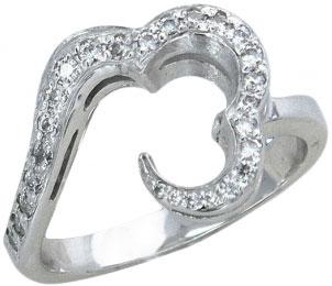 Кольца Эстет U15K150238 кольцо с 81 фианитами из серебра 925 пробы