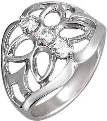 Кольца Эстет U15K152181 кольцо с 81 фианитами из серебра 925 пробы