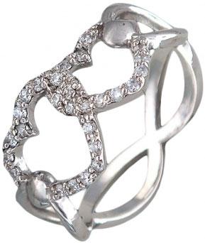 Кольца Эстет U15K154299 кольцо с 81 фианитами из серебра 925 пробы