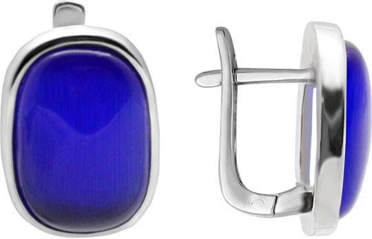 Серьги Evora 15126-blue-e