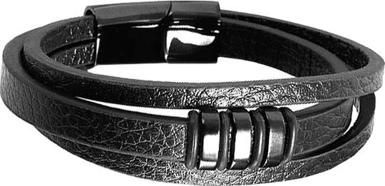 Браслеты Evora 630560-e натуральной кожи европейского шарма wrap браслеты трехместный loop черный