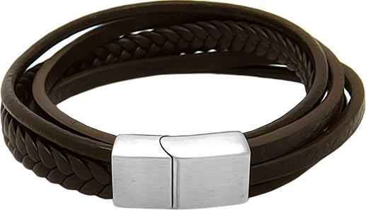 Браслеты Evora 630615-e муж жен кожаные браслеты кожа природа мода браслеты черный коричневый назначение особые случаи подарок