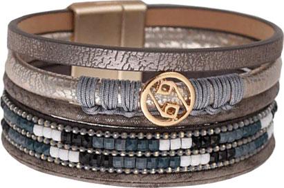 Браслеты Evora 631390-e муж жен кожаные браслеты браслет кожа винтаж камни браслеты черный коричневый назначение подарок повседневные