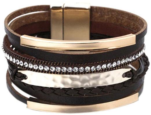 Браслеты Evora 631402-e муж жен кожаные браслеты кожа мода браслеты черный коричневый назначение новогодние подарки для вечеринок особые случаи