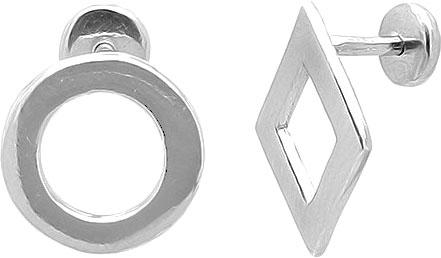 Серьги Evora 636414-e золотой зажим для галстука со ступенями и полосками алмазной грани sokolov