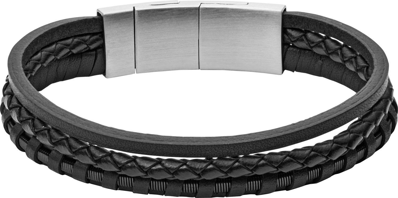 Браслеты Fossil JF02935001 муж кожаные браслеты кожа природа мода браслеты черный назначение особые случаи подарок