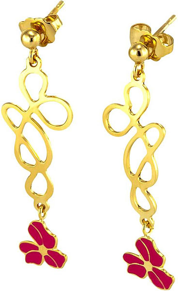 Серьги Georges Legros AL0582BRA000 gold plated bar tassel drop earrings