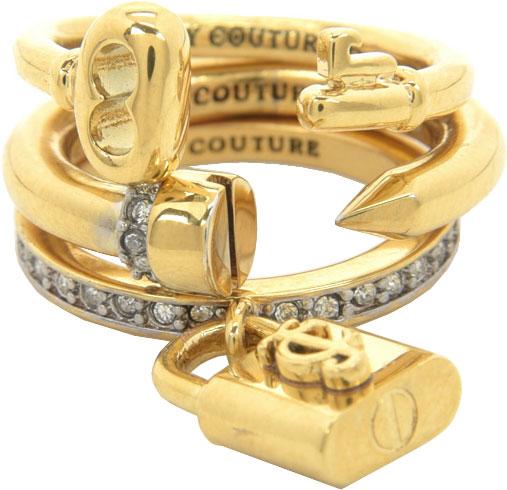 Кольца Juicy Couture WJW501/710 новый кусок кубического циркония с квадратным куском покрытый позолотой 3 шт кольцевые наборы роскошные обручальные кольца для женщин r645