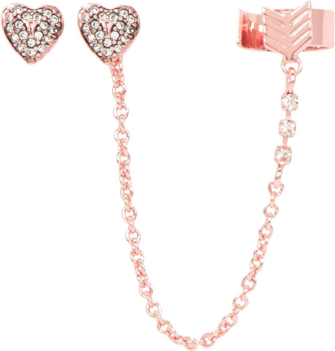 Латунные серьги каффы Juicy Couture WJW62495/690 с кубическим цирконием