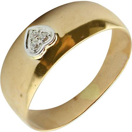 Золотое кольцо Ювелирные Традиции K132-4054 с фианитами