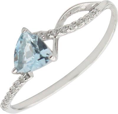 Кольца Ювелирные Традиции K620-1495T кольцо с 81 фианитами из серебра 925 пробы