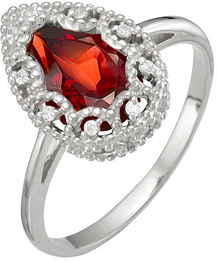 Кольца Ювелирные Традиции K620-1535Gr ar535 925 чистое серебро кольцо 925 серебро ювелирные изделия кокосовый орех вал инкрустированные красный камень bdbajuia dsyamkfa