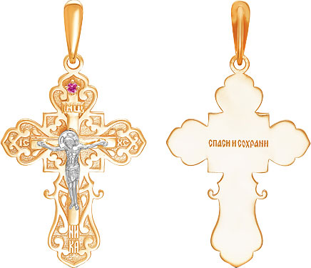 Крестики и иконки Ювелирные Традиции KR110-4010R