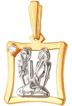 Кулоны, подвески, медальоны Ювелирные Традиции P132-012 ювелирные подвески магия золота подвеска с фианитом