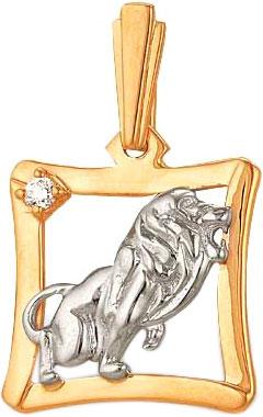Кулоны, подвески, медальоны Ювелирные Традиции P132-014 ювелирные подвески магия золота подвеска с фианитом