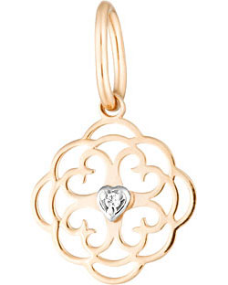 Кулоны, подвески, медальоны Ювелирные Традиции P132-4498-L7 ювелирные подвески магия золота подвеска с фианитом