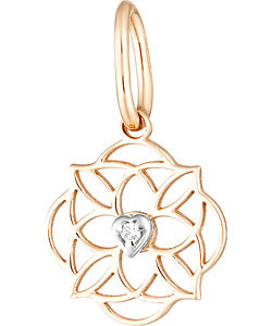 Кулоны, подвески, медальоны Ювелирные Традиции P132-4500-L9 ювелирные подвески магия золота подвеска с фианитом