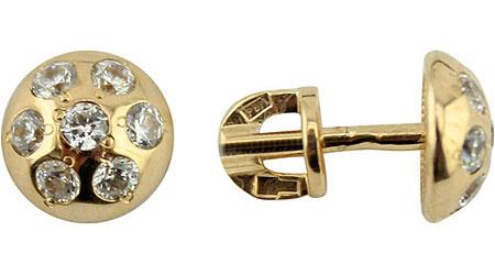 Серьги Ювелирные Традиции S130-2964 ювелирные изделия 900 пробы