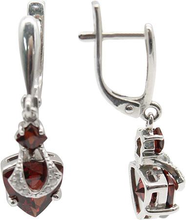Серьги Ювелирные Традиции S620-1110Gr серьги серебро с цитрином и фианитами присцилла