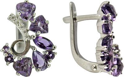 Серьги Ювелирные Традиции S620-1370AM ювелирные серьги krasnoe серебряные серьги