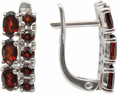 Серьги Ювелирные Традиции S620-1374Gr серьги серебро с гранатом трафальгар