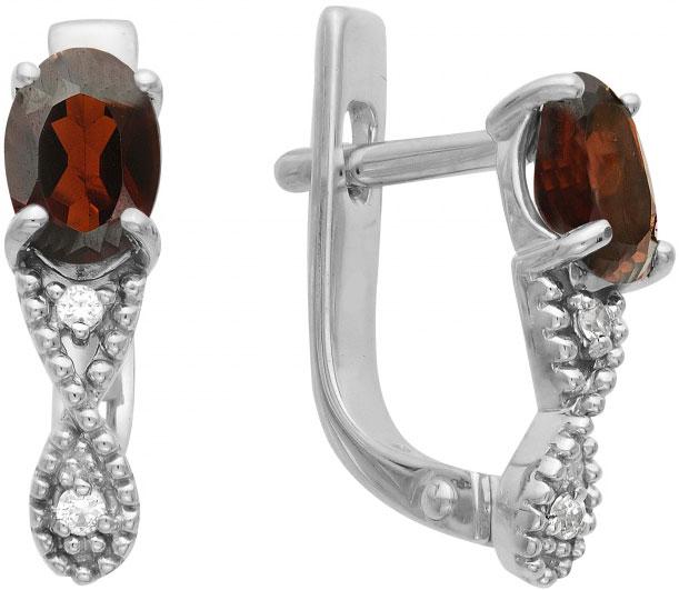 Серьги Ювелирные Традиции S620-1448Gr ювелирные серьги krasnoe серебряные серьги