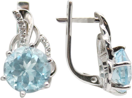 Серьги Ювелирные Традиции S620-2428T серьги эстет серебряные серьги с аметистами и топазами estр6с356179am t