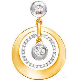 Золотые кулоны, подвески, медальоны Кулоны, подвески, медальоны КЮЗ Дельта L031505 фото