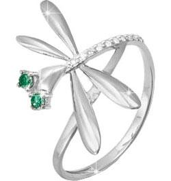 Кольца КЮЗ Дельта S112569 кольцо с 81 фианитами из серебра 925 пробы
