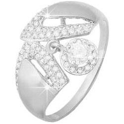 Кольца КЮЗ Дельта S112769 кольцо с 81 фианитами из серебра 925 пробы