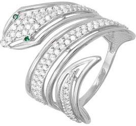 Кольца КЮЗ Дельта S113404 кольцо с 81 фианитами из серебра 925 пробы