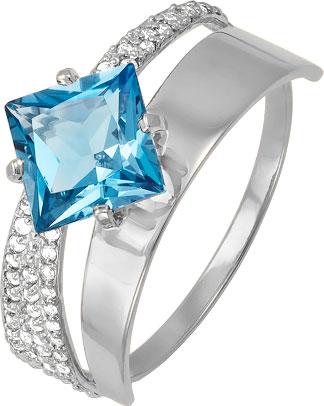 Кольца КЮЗ Дельта S311459 кольцо с 81 фианитами из серебра 925 пробы