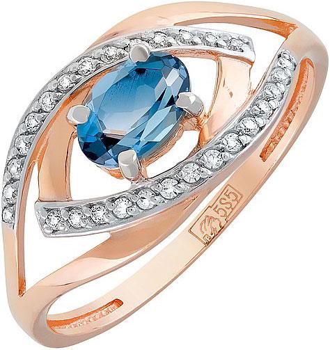 Кольца Магия Золота 119951_mg магия золота женское золотое кольцо с аметистами и куб циркониями mg81293am z 17 5