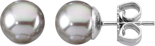 Серьги Majorica 00326.06.2.000.701.1 серебряные пусеты в украине
