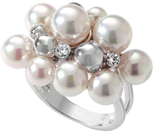 Кольца Majorica 10553.01.2 женские кольца giorgio martello женское серебряное кольцо с культ жемчугом 304059 18 5