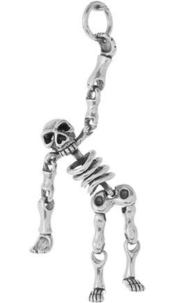 Кулоны, подвески, медальоны Марказит A0109-skeleton-mr кулоны подвески медальоны mr jones 250102