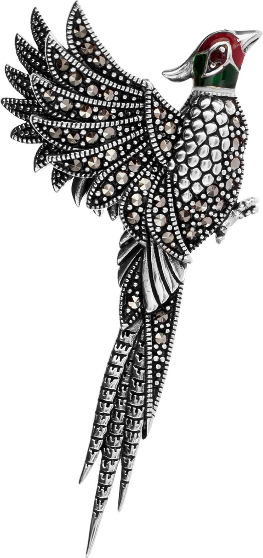 Броши Марказит HB556-granat-mr новый дизайн сплав красный синий эмаль фламинго птица броши женские мужские металлические броши броши банки банкет брошь подарочны