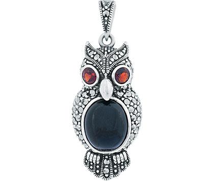 Кулоны, подвески, медальоны Марказит HP626-oniks-mr жен оникс серьги кольца свисающие в виде подвески ретро красный назначение день рождения подарок повседневные