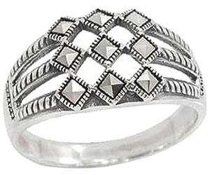 ювелирные кольца karmonia серебряное кольцо с марказитами Кольца Марказит HR1004-mr