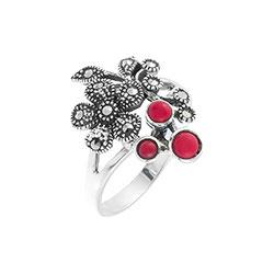 Кольца Марказит HR1077-mr кольца колечки кольцо краса имитация коралла