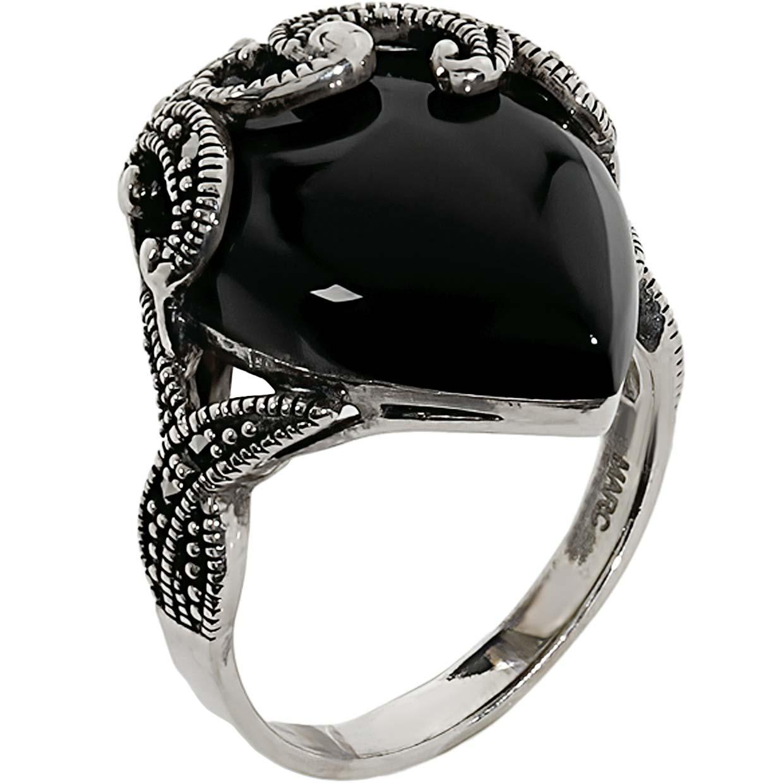 Кольца Марказит HR1470-oniks-mr