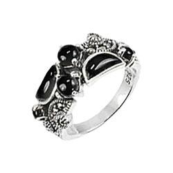 Кольца Марказит HR1503-oniks-mr
