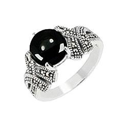 Кольца Марказит HR1551-oniks-mr