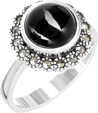Кольца Марказит HR1730-oniks-mr кольца марказит d0626 mr