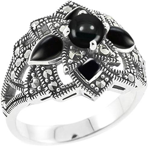 Кольца Марказит HR704-oniks-mr
